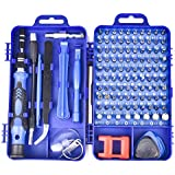 precision screwdriver set,FomaTrade 115 in 1 Professional Screwdriver Set, Multi-function Magnetic Repair Computer Tool Kit Compatible with iPhone/Ipad/Android/Laptop/PC etc (Blue)