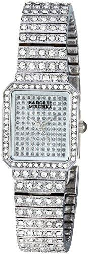 Badgley MischkaレディースBA/1383svsvスワロフスキークリスタルアクセントシルバートーンブレスレット腕時計