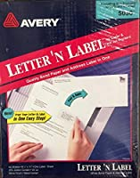 LETTER 'N LABEL QUALITY BOND PAPER AND ADDRESS LABEL IN ONE [並行輸入品]