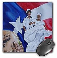 Melissa A Torresアートプエルトリコ–A Couple of Bombaダンサー、A Conga背景として、プエルトリコ国旗–マウスパッド( MP _ 160389_ 1)