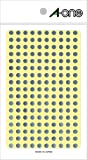エーワン カラーラベル 銀 丸型 5mm 6シート 07072