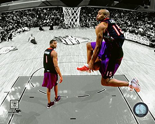 Vince Carter Toronto Raptors NBA Slam Dunk Contestアクション写真(サイズ: 8?