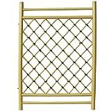 人工竹垣 プラスチック枝折戸 幅2.5尺 W75cm×H105cm