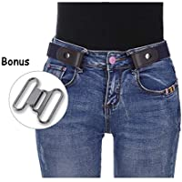 "Women Girls No Buckle Belts - Stretch Waist Belt Up to 42"" Women Invisible Belts for Jeans Pants Dresses"