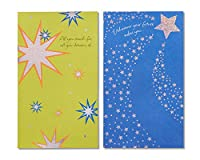 (Starry Green and Blue) - American Greetings Starry Green and Blue Graduation Cards, 6-Count
