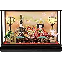 雛人形 オルゴール付ガラスケース入り親王飾り  No.306-52