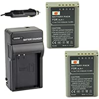 DSTE® アクセサリーキット Olympus BLN-1 BCN-1 互換 カメラ バッテリー 2個+充電器キット対応機種 OM-D E-M1 E-M5 PEN E-P5