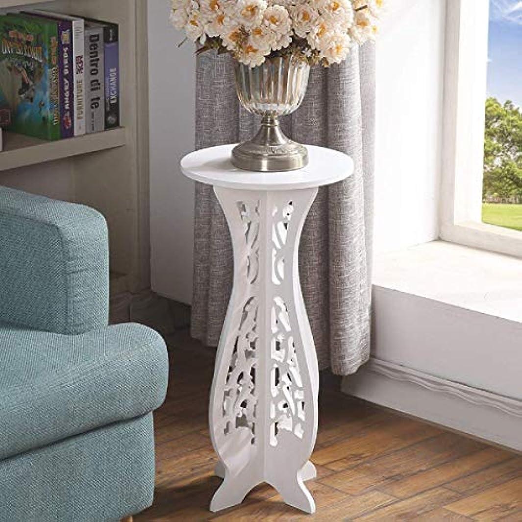 認めるエトナ山広範囲HUO ホワイトコーヒーテーブルデスク木製MDFラウンド小さなコーヒーテーブルサイドテーブルホーム家具装飾的なフレーム-40 * 60 * 31 cm
