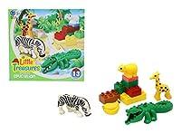 [リトルトレジャー]Little Treasures Animal Building Brick 13 Piece Play Set from That Inspires Creativity and Integrates with Duplo [並行輸入品]