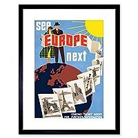 Travel Tourism Europe Tower Bridge Eiffel Sun USA Framed Wall Art Print 旅行観光ヨーロッパタワーブリッジアメリカ合衆国壁
