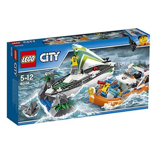 (レゴ) LEGO シティ 60168ヨットとレスキューボート 組み立ておもちゃ 本当に水に浮くボート付き商品内容:沿岸警備隊レスキューボート、ヨット、岩の島、ミニフィギュア2体、サメのミニフィギュア1体。ブロック195個。商品:6174681。