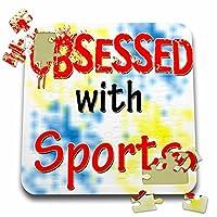 ブロンドDesigns Obsessed with–Obsessed withスポーツ–10x 10インチパズル( P。_ 241798_ 2)