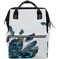 ママバッグ マザーズバッグ リュックサック ハンドバッグ 旅行用 クジャクの羽 ファション