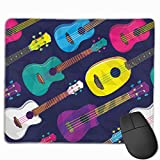 マウスパッド ハワイ ウクレレ ギター おしゃれ 高耐久性 滑り止め 防水 PC ラップトップ 水洗い レーザー 光学式 25*30cm