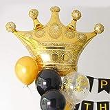王冠マーク バルーン 誕生日 風船 冠 BIG クラウンゴールド 飾り付け サプライズ パーティー クラブ 結婚式 お祝い 撮影 ぺたんこ配送