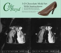 Cybrtrayd C196AB Santa's Sack Life of the Party Chocolate Candy Mould Bundle with 2 Moulds and Exclusive Cybrtrayd Copyrighted 3D Chocolate Moulding Instruction