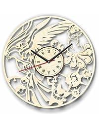 Pokemon ポケットモンスター木製掛け時計ー完璧で美しく作られたー現代アートで自宅を飾ろうー彼と彼女にユニークなギフトーサイズ12インチ(30 ㎝)