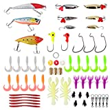 yarssir釣りルアーハードルアーセットキットIncluding Minnow Crankbaits Popper SpinnerbaitソフトShrimp Bait andメタルジグフックfor with Freeタックルボックス
