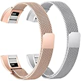 For Fitbit Alta HR and Alta Bands, bayite Replacement Milanese Loop Stainless Steel Metal Bands