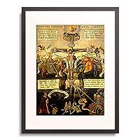 Breslauer Maler,um 1558 「Die Passion Jesu Epitaph des Georg Mehl aus der Hl.-Kreuz-Kirche Breslau」 額装アート作品
