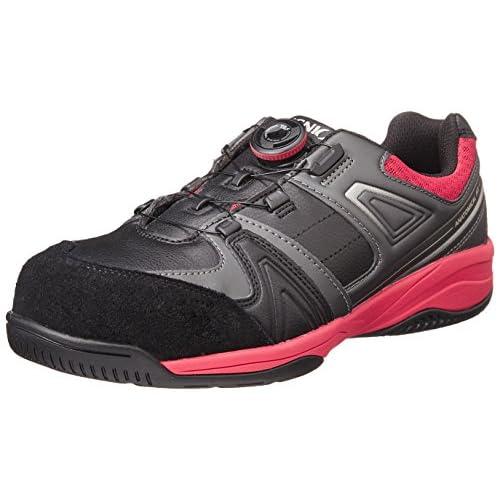 [イグニオ] セーフティシューズ(安全靴) JSAA A種認定 TGFダイヤル式 IGS1027TGF BKRD ブラック/レッド 27
