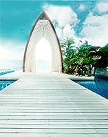 A Monamour 1.5X 2.1mビニールSeaside Beachブルースカイ海夏シーズンテーマStudio小道具写真の背景幕