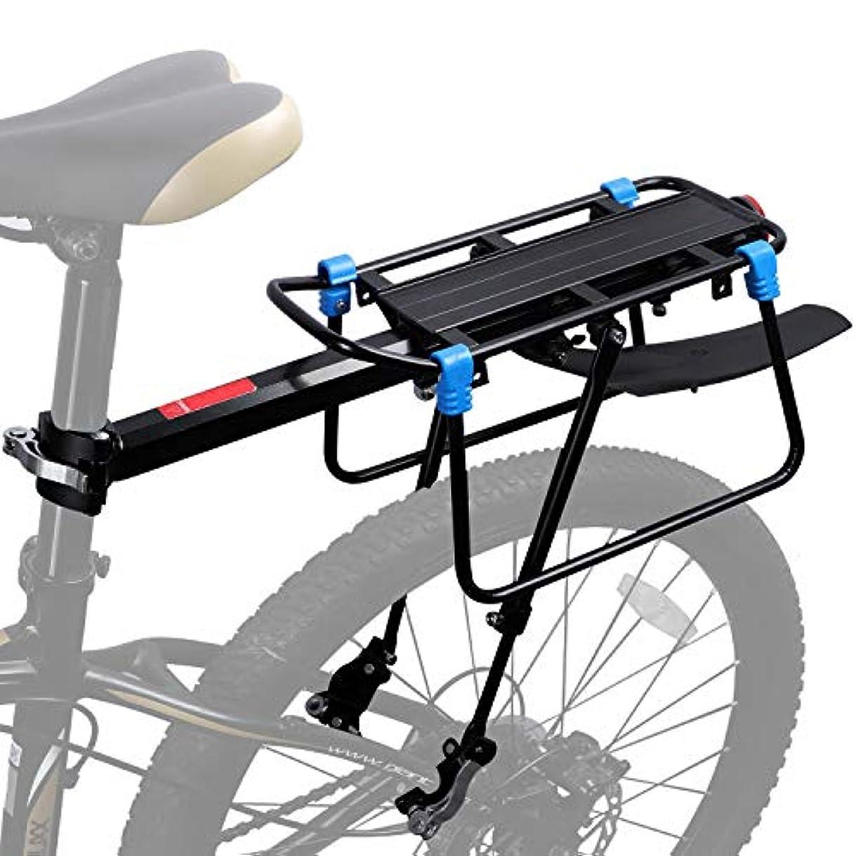 結婚した途方もない小麦ICOCOPRO 自転車 ツーリングキャリア フェンダーブロード付き フレーム取り付け 重みのあるトップとサイドロードバイク用カーゴラック クイックリリリース ユニバーサル 調節可能 サイクリング用具 バイクアクセサリー