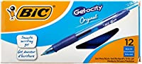BIC Velocity Roller Ball Retractable Gel Pen, Blue Ink, Medium, Dozen