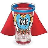 ザ シンプソンズ Duff Man ビール ドリンキング ピントグラス ウィズ ケープ