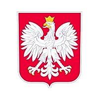 ポーランドの国章ステッカーダイカットデカール自己粘着FAビニール