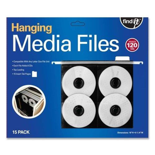 Find It Hanging CD / DVDページ–Top Loading–Poly–ブラック–8CD / DVD