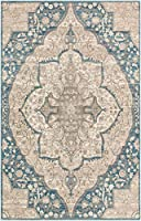 Wynnedale ヴィンテージアンティーク調ブルートラディショナル100%ポリプロピレンエリアラグ 9' x 12' Rectangle
