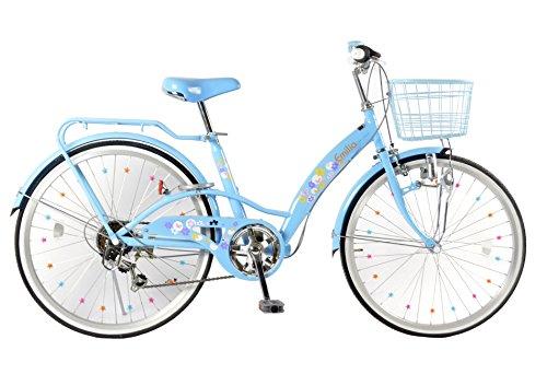 21Technology Emilia(エミリア)EM226 22インチ シマノ製6段変速 子供用自転車 (パステルブルー)