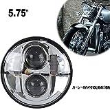 1ピース5.75インチDAYMAKERハーレーオートバイ用LEDヘッドライトハイロービームDRL