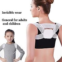 調節可能な姿勢コレクター、肩と背中上部の痛みを軽減する姿勢トレーナー、女性、男性と子供のための快適なショルダーブレース,M(child)