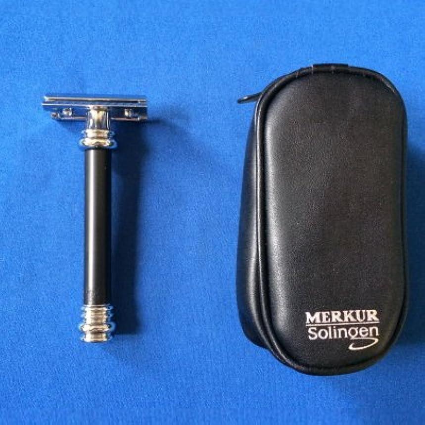 常習的パーティション化学者メルクール髭剃り(ひげそり) 38011ブラック(専用革ケース付)