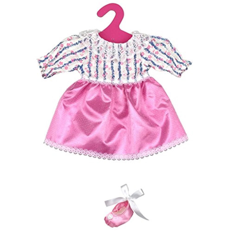Lovoski  人形 かわいい ピンク レース ドレス ダンスシューズ 18インチ アメリカンガールドール適用 装飾