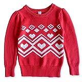 (オールドネイビー)OLD NAVY ハートノルディック柄 セーター 赤 110cm 【並行輸入品】