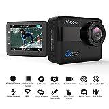 Andoer 4K WiFi スポーツカメラ アクションカメラ 1080P Full HD 20MP Novatek 96660 2.31インチ タッチスクリーン 防振 5倍ズーム 170° 広角レンズ 30m 防水ケース