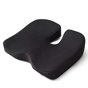 Mkicesky 第四世代座布団 低反発クッション 椅子 オフィス 自宅用 座ぶとん 腰楽クッション 座り心地抜群