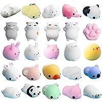 neband 25個Squishiesかわいい動物、香りつきSlow Rising応力レジューサソフトおもちゃコレクションギフト子供大人