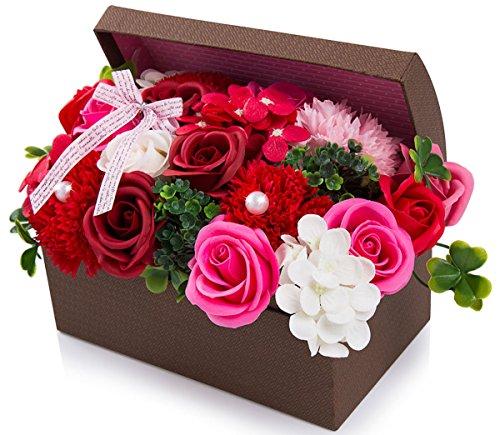 ハロウィン ソープフラワー 創意ジュエリーギフトボックス 誕生日 母の日 記念日 先生の日 バレンタインデ...