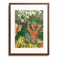 エルンスト・ルートヴィヒ・キルヒナー Ernst Ludwig Kirchner 「Lion hunter in the grove」 額装アート作品