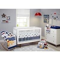 Disney Let's Go Mickey II 4-Piece Crib Bedding Set [並行輸入品]