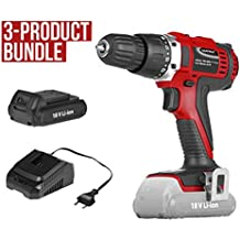 Matrix 18V Cordless Drill Driver 1.5Ah Rechargeable Battery Charger Power Tool