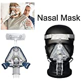 Silicone Gel Nose Face Mask Headgear Strap Sleep Apnea Nasal Snoring for CPAP M