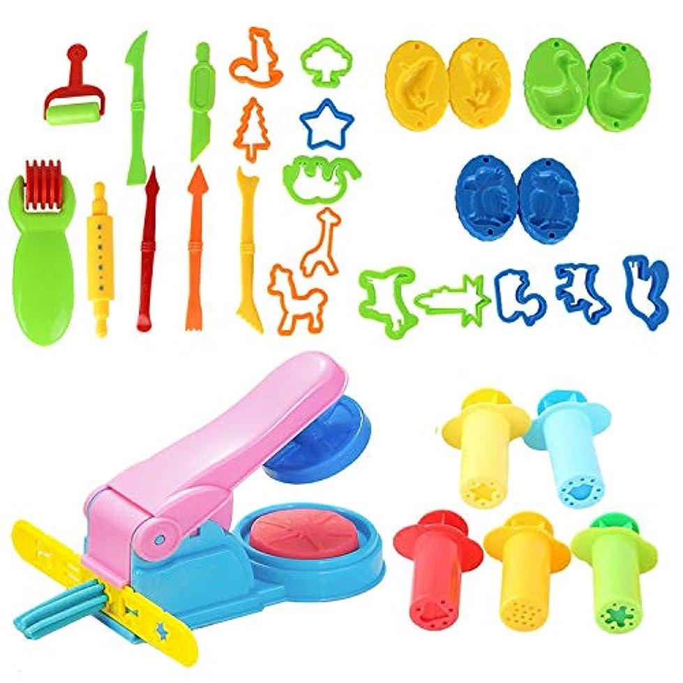 粘土ツールキット ゴシレ Gosear 27ピースdiy子供プラスチック遊び生地ツールセット粘土型モデリング粘土知育玩具子供幼児
