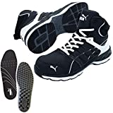 PUMA(プーマ) 安全靴 ヴェロシティ 26.5cm ブラック×ホワイト インソール付セット 63.342.0&20.450.0