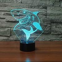 WZYMNYD 7色led usbナイトライト3d笑顔サメ形状テーブルランプ子供タッチボタン赤ちゃん睡眠lampara照明寝室の装飾ギフト