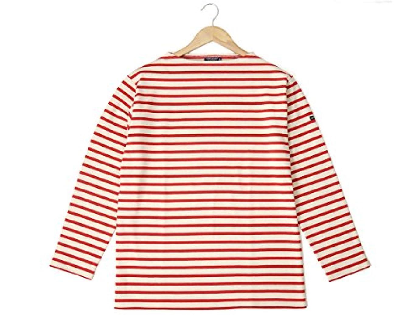 ピクニックをする船乗り永遠のセントジェームス ウエッソン ギルド バスクシャツ SAINT JAMES 2501 MP GUILDO 長袖 ボーダー ロンT ECRU/TULIPE チューリップ レッド メンズ レディース [並行輸入品]